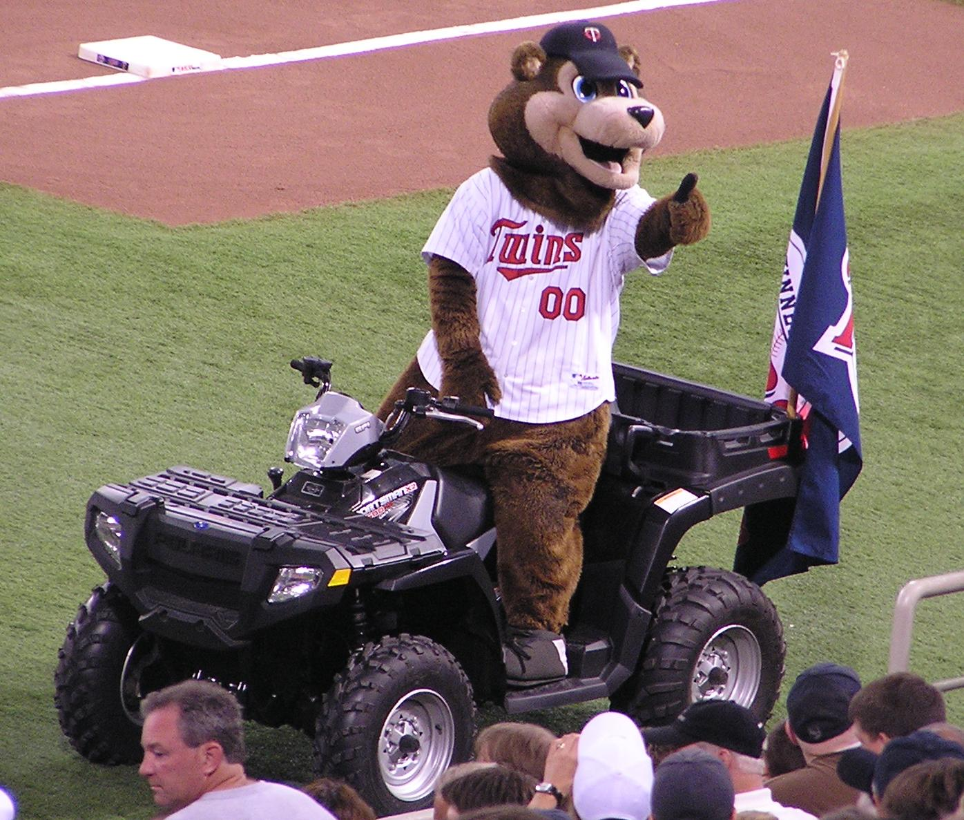 T.C. the Twins Mascot, HHH Metrodome, Minneapolis