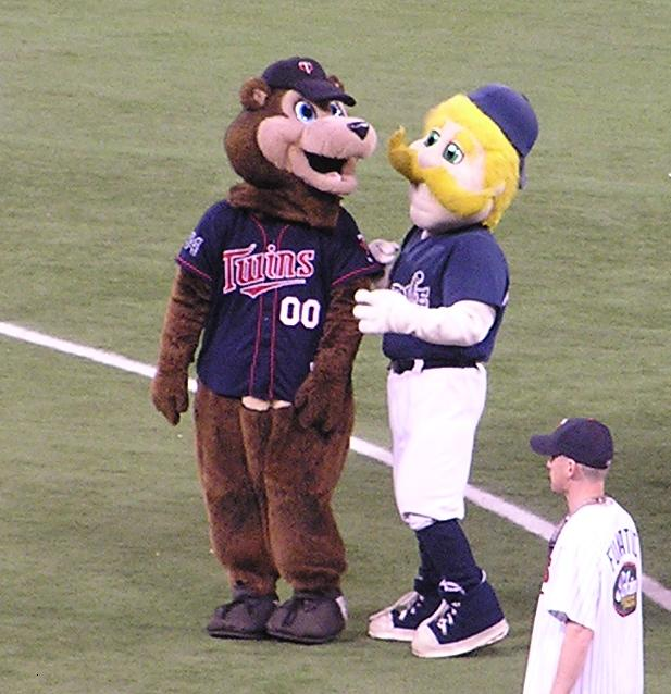 A visiting Mascot, The Metrodome, Minneapolis