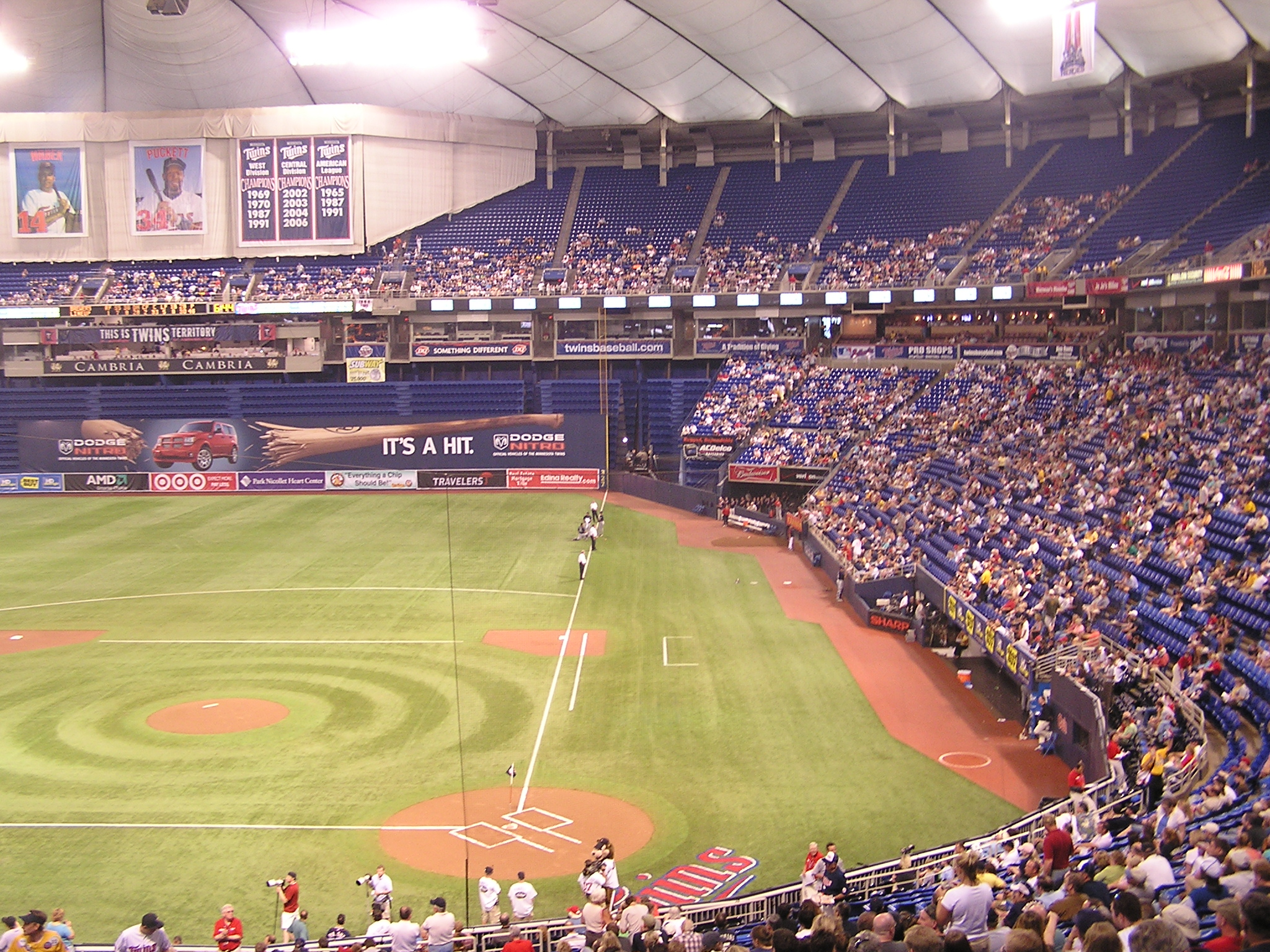 The view from behind Home Plate - The Metrodome