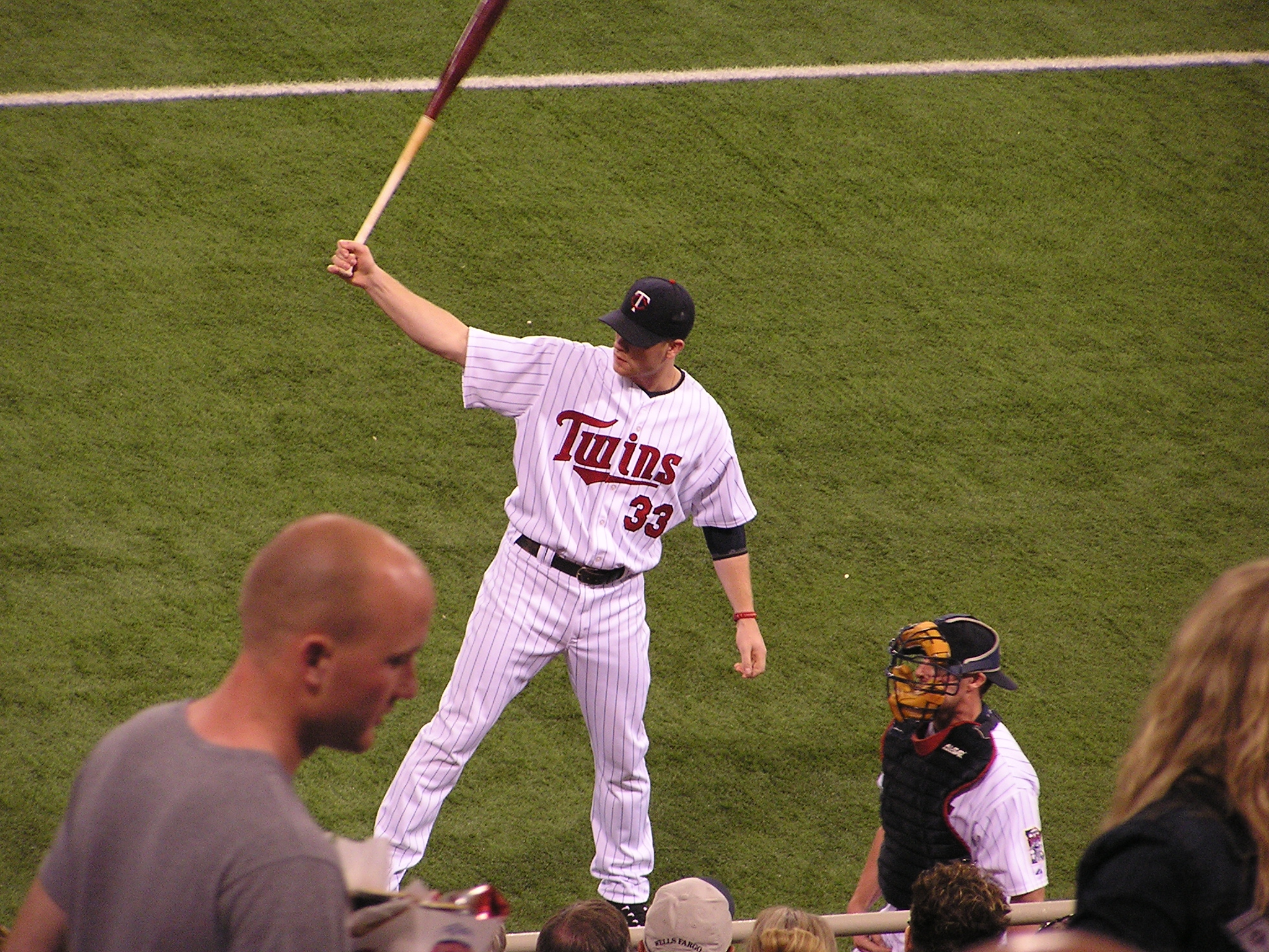 Justin Morneau pre-game, the Metrodome Minneapolis
