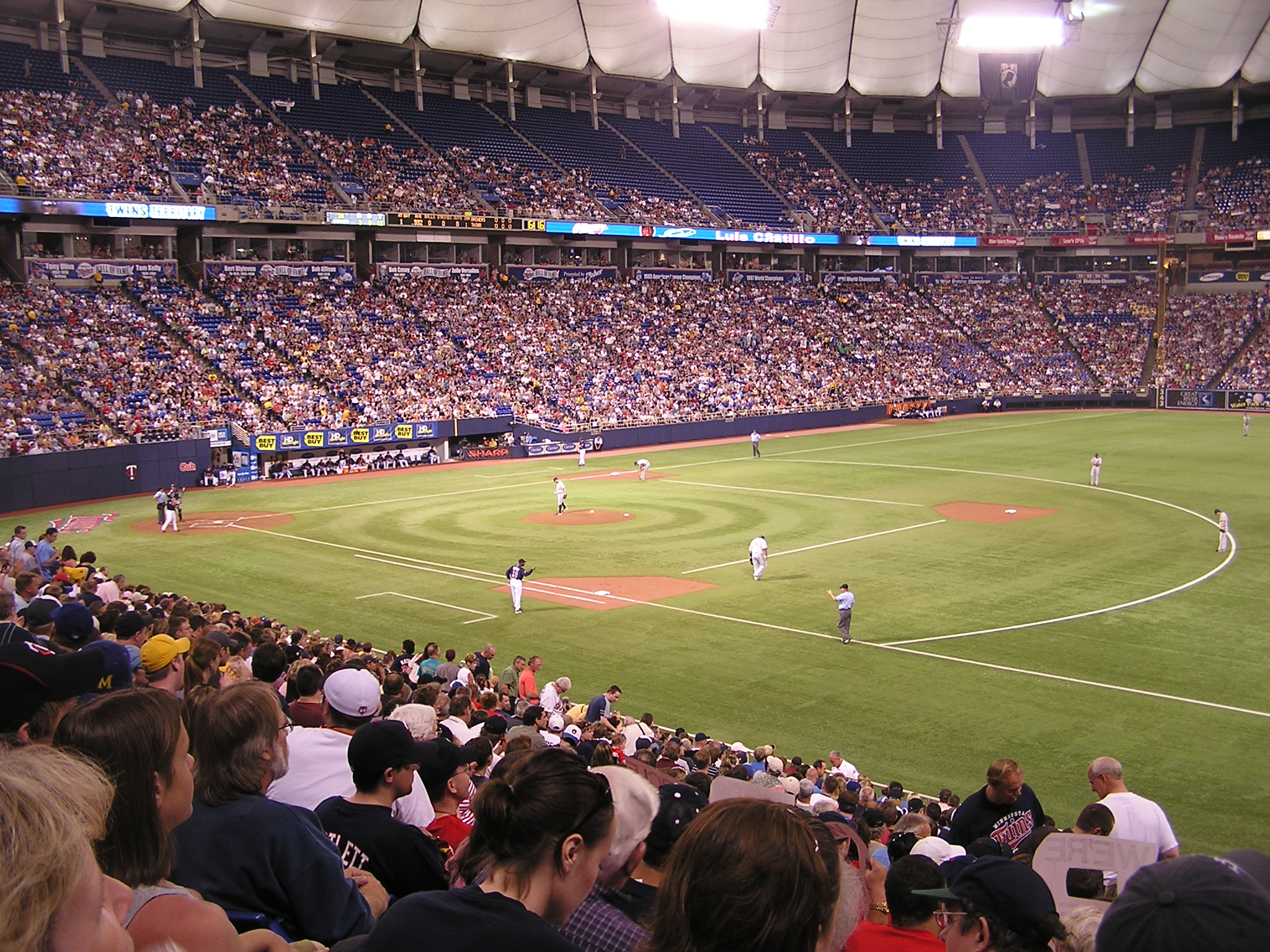The HHH Metrodome from the 1st base side