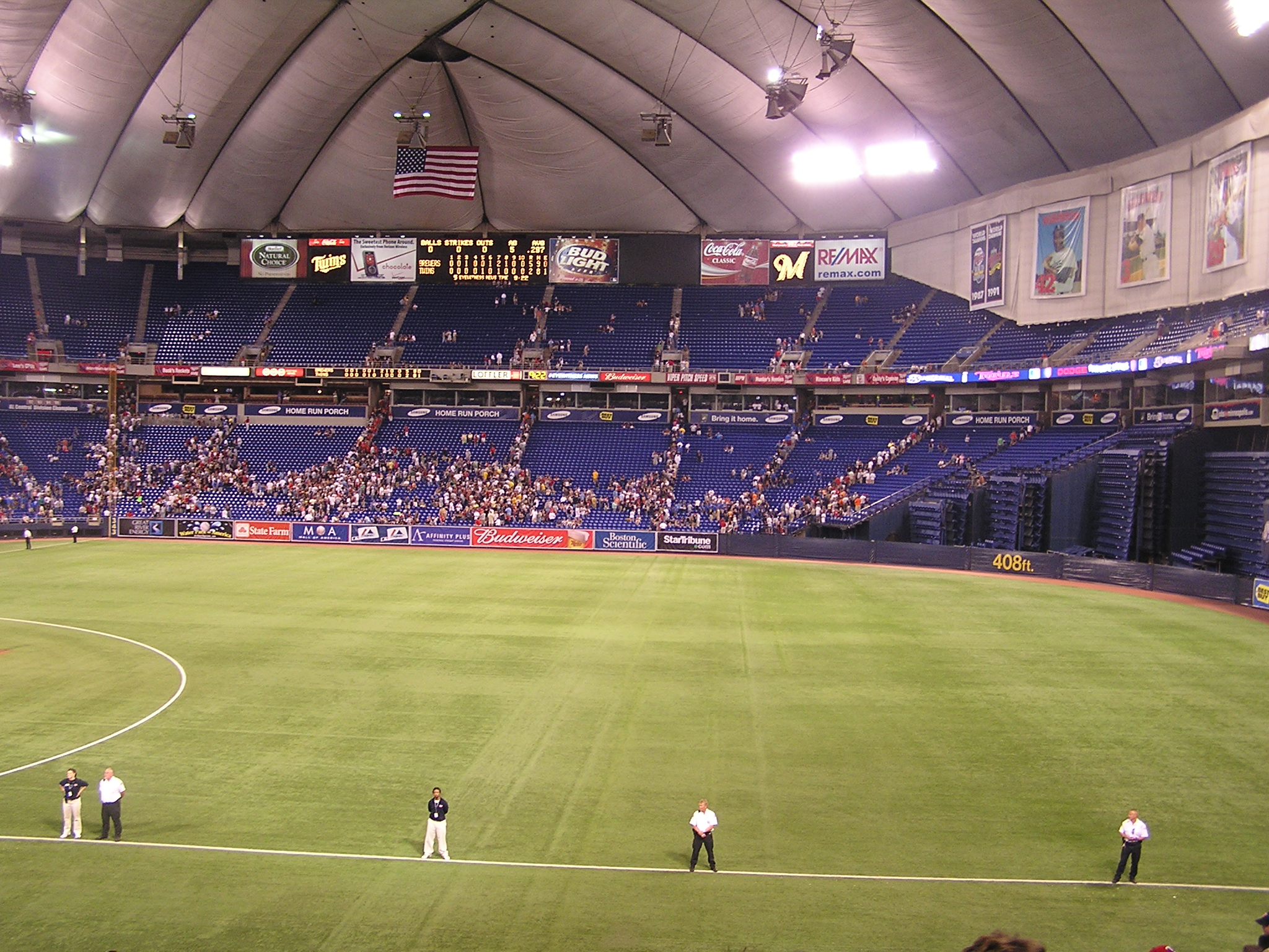 The Scoreboard at the Metrodome- Minneapolis, Mn